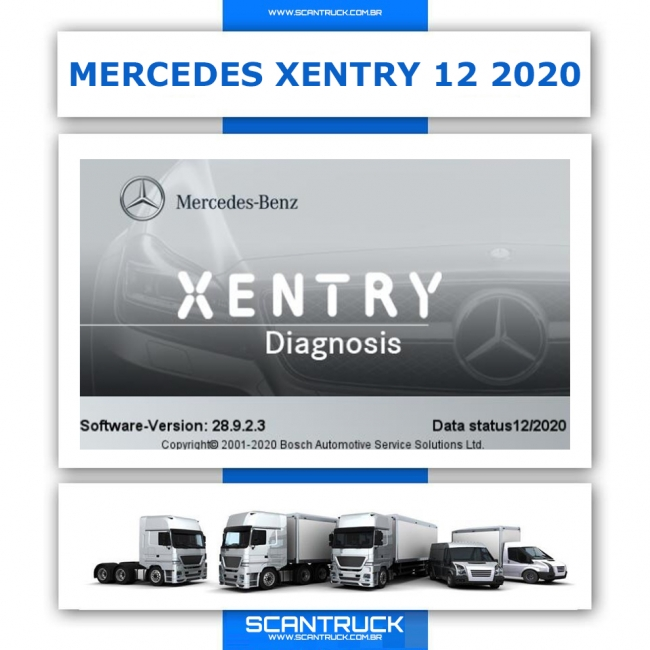 MERCEDES DAS XENTRY 12 / 2020 COMPLETO EOL CHIPCARD ADBLUE OFF